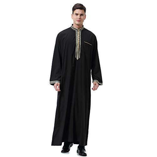 Islamisch Kleidung Stickerei Roben Herren Kaftan Traditionell Ethnische Saudi-arabische Langarm Maxikleid Thobe Dubai Muslim Indien Türkisch - Sich Kleiden Wie Ein Mann Kostüm
