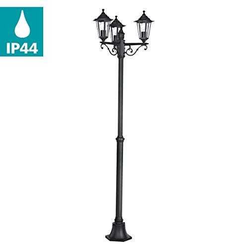 Eglo Lampe 22145mât, aluminium, E27, noir