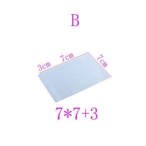 Macxy - 200 Pc weißen Punkte Kunststoff Tasche transparent gefrostet OPP-Geburtstags-Party Hochzeit Plätzchen Süßigkeiten Verpackung Bag [B] (Uk Halloween Party Süßigkeiten)