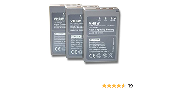 Vhbw 3x Akku Kompatibel Mit Olympus Pen E Pl9 E Pl7 Elektronik