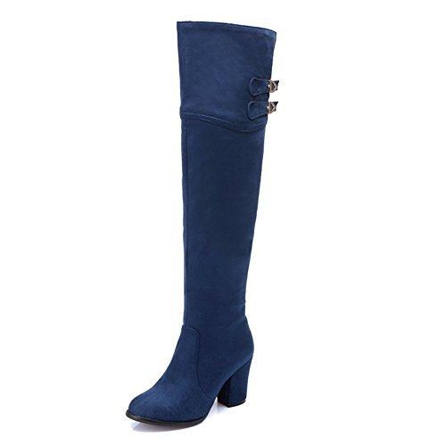 A&N ,  Damen Chukka Boots , blau - blau - Größe: 42 (White Furry Stiefel)