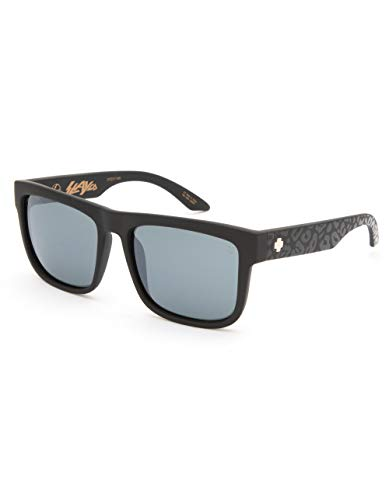 239eac549a Spy Optic Discord Polarized Flat Sunglasses (SLAYco Matte Black Leopard -  Happy Gray Green w