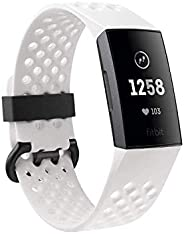 Fitbit FB410GMWT-EU Charge 3 Fitness Tracker - Special Edition Graphite/White Silicone