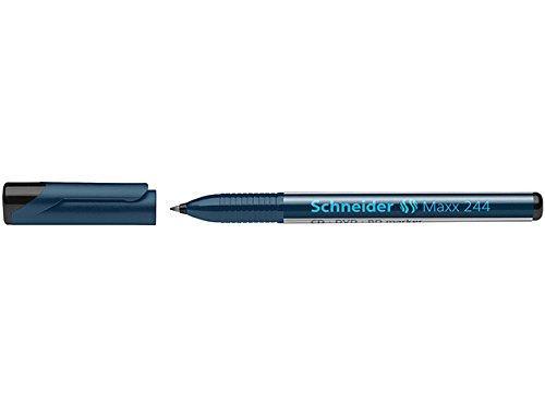 Schneider Maxx 244 CD-/DVD-/BD-Marker (permanente Cap-Off Tinte, 0,7 mm) 10er Packung schwarz