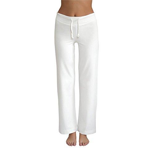 Leela Cotton Damen Hose Bio-Baumwolle/Elasthan, Natur, Gr. L Bio-baumwolle-yoga-hosen