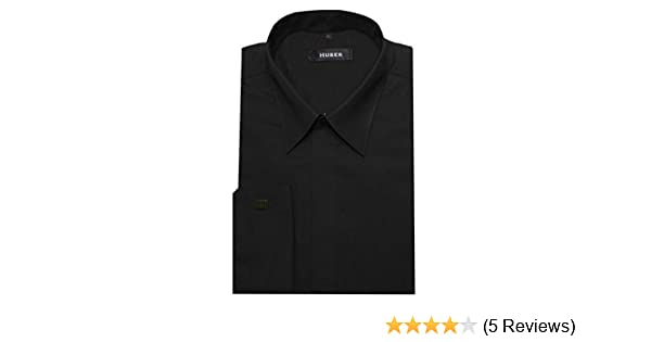 HUBER Umschlagmanschetten Hemd schwarz HU-0012 Regular Fit  Amazon.de   Bekleidung 6556f60b18