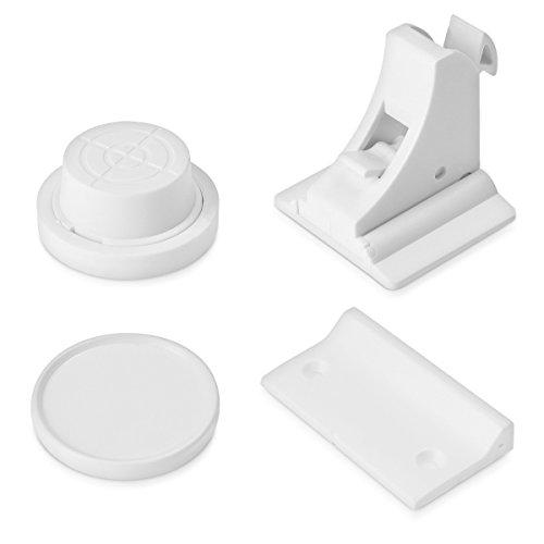 Navaris Unsichtbare Magnet Schrank Kindersicherung - 10 Schlösser 2 Schlüssel - Magnetische Kinder Sicherung für Schränke Schubladen Kommoden -