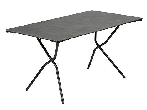 Lafuma Großer, rechteckiger Gartentisch, 139x79 cm, Für 4-6 Personen, Klappbar, Wetterfest,...