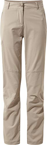 Craghoppers NosiLife Pro II Hose Damen - Regular Version - Outdoorhose mit Schutz vor Insekten, Mushroom, EU 38 (12 Long Leg)