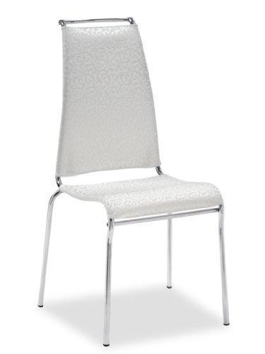 Calligaris Air HIgh Sedile Imbottito schienale imbottito sedia di ristorante e sala da pranzo–Sedia di ristorante e sala da pranzo, Sedile Imbottito, Poliestere, PVC, colore: bianco, schienale imbottito, Cloruro di plastificanti (PVC), Poliestere, colore: bianco)