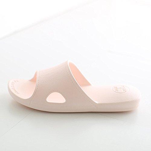 Mianshe Damen Herren Bad Dusche Pantoletten Hausschuhe Sommer Strand Aqua Slippers Flach Sandalen Azurblau