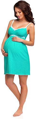 Be Mammy Vêtements Maternité Chemise de Nuit Dolly Turquoise