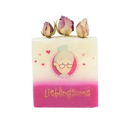 Regalo speciale per la nonna, sapone fatto a mano, profumato, con biglietto, sapone fatto a mano con profumo di rosa, regalo di Natale per la no
