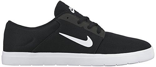 Nike SB Portmore Ultralight, Scarpe da Skateboard Uomo Nero / Bianco / Grigio (Black/White-Anthracite)