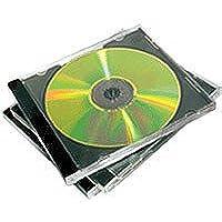 Fellowes Confezione per Doppio CD Jewel Case, 5 Pezzi, Nero
