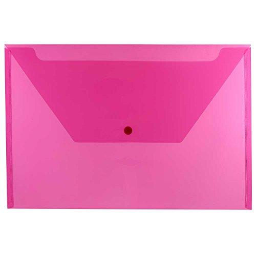 JAM Paper® Billetera de Plástico de Documentos con Cierre a Presión -...