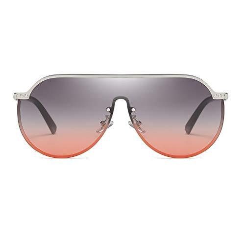 Lucky Mall Mode Unisex Trend Punk-Brille, Frauen Retro Sonnenbrille mit Großer Rahmen, Herren Verdunkelungsbrille, UV-Schutzbrille, Party Zubehör Bekleidungszubehör Reisezubehör