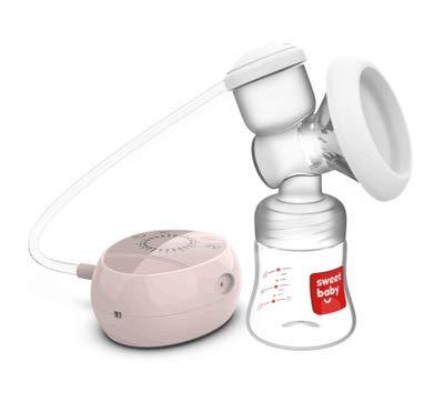 WOLJW Elektrische Milchpumpe-automatische LCD-große Saug-stille Melkmaschine-Silikon-Brust,Pink