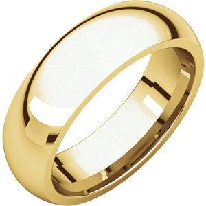 18kt Gelb 6mm Comfort Fit Wedding Band, Size- 8 - 18kt Yellow 6mm Comfort Fit Wedding Band ,Size- 8