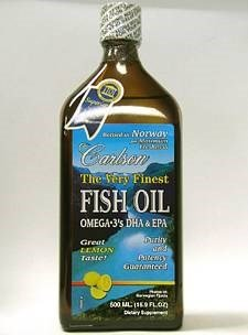 Carlson - The Very Finest Fisch Öl - Lemon Geschmack- 500 ml Liquid Fish Oil Omega 3