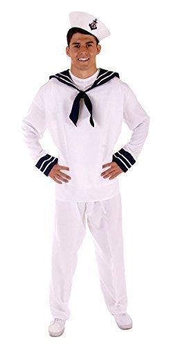 MENS ADULT ahoi Seemann MATE FANCY DRESS OUTFIT KOSTÜM STD [Spielzeug]