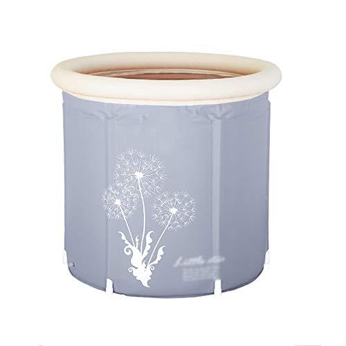 XF Faltbare Plastikbadewanne, tragbare, alleinstehende Verdickungsbadewanne für den Haushalt, dampfende Sauna, Dampfbegasungsmaschine, runde Badewanne, Babyschwimmen Freistehende Badewanne