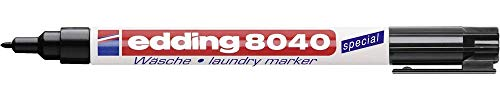 Wäschemarker edding® 8040, waschfest bis Grad Celsius 95°C, mit Clip, schwarz