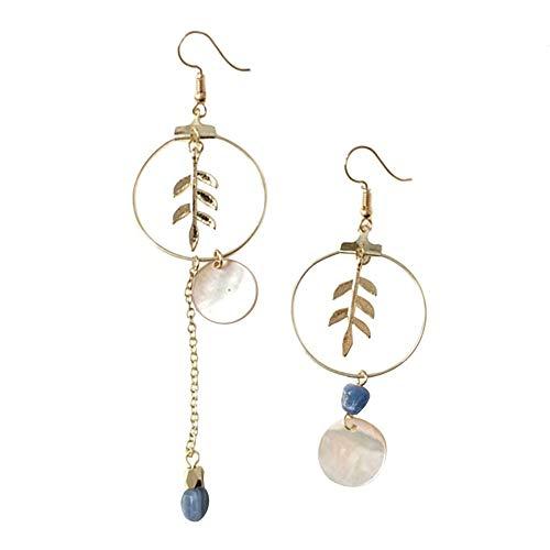 Yutongyi Zierlich Mode Eleganz Ohrringe Asymmetrische Simulierte Perle Shell Verlässt Ohrringe Für Mädchen Frauen Freundin Frau Dame Geburtstagsgeschenk