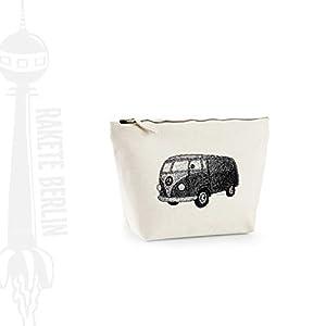 Kosmetiktasche (M)' Bulli Bus gezeichnet ' Baumwoll Canvas