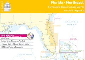 Florida, Northeast - Fernandina Beach to Lake Worth (NV.Chart - Reg. 8.1) (Seekarten Florida)