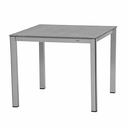 MWH Elements Tisch, Aluminium, silber / grau, 90 x 90 x 74 cm, 879737