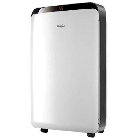 Whirlpool DE20LWS0 4L 43dB 315W Acero inoxidable, Color blanco - Deshumidificador (315 W, Electrónico, 345 mm, 210 mm, 575 mm, 14 kg)