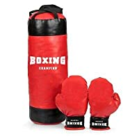 3+ ages Kids Mini Boxing Punching Bag Set with Gloves
