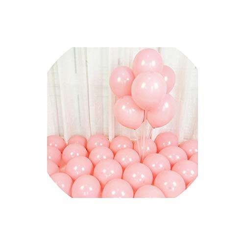 llons 10Pcs Rose Gold Confetti Latex Hochzeit Dekoration Partybedarf, D6 Rosa, 2.2G 10Inch ()