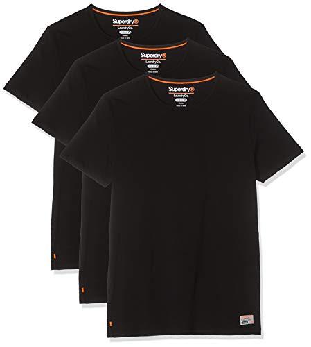Superdry Herren SDRY LNDRY Slim Tee Triple Pack T-Shirt, Schwarz (Laundrybk/Laundrybk/Laundrybk Zx4), Medium (Herstellergröße: M) -