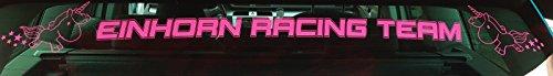 Aufkleber Einhorn Racing Team (Auto Racing Aufkleber)