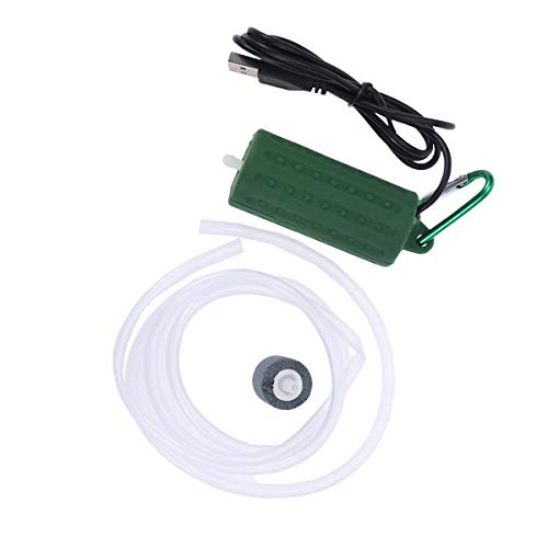 POPETPOP Aquarium Luftpumpe USB Powered Silent Hocheffiziente Sauerstoff Luft Belüfterpumpe für Aquarium Teich Aquarium