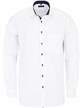 ETERNA Comfort Fit Hemd extra langer Arm Oxford schneeweiß AL 68