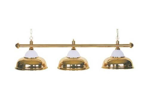 "Billard Lampe \""Crown\"", messing , 3 Schirme, Ø38cm, 112cm"