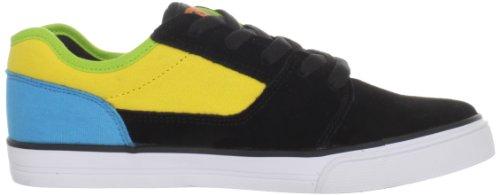 DC Shoes BRISTOL YOUTH D0303081 Jungen Sportschuhe - Skateboarding Schwarz (BLK/YELLOW/TURQ BYQD)