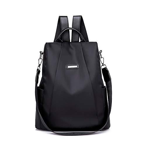 Rucksack Mädchen Damen, VECOLE Backpack Große Kapazität Diebstahlsicherer Oxford-Stoff Rucksack Mode Schultasche Campus Studententasche für Universität/Arbeit/Reise(Schwarz)