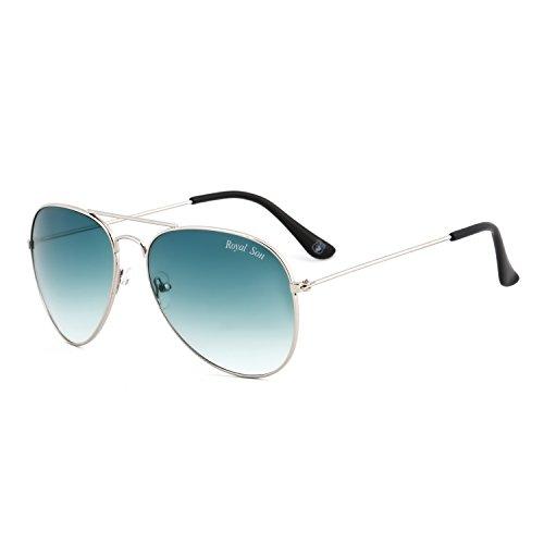 Royal Son UV Protected Aviator Unisex Sunglasses(Rs0014Av|58|Green)