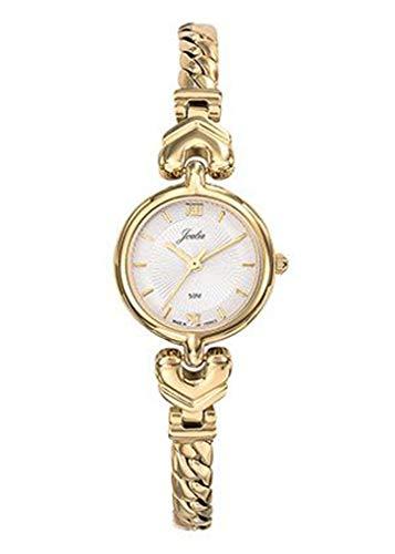 Joalia H630M548 - Orologio da donna con cinturino dorato e quadrante bianco
