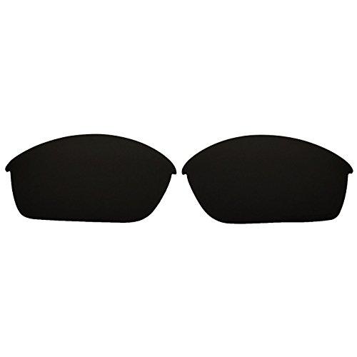 COODY Ersatz Polarisierte Gläser für Oakley Flak Jacket Sonnenbrille (Nicht Fit Flak Jacket XLJ, Flak 2.0), Unisex, Schwarz