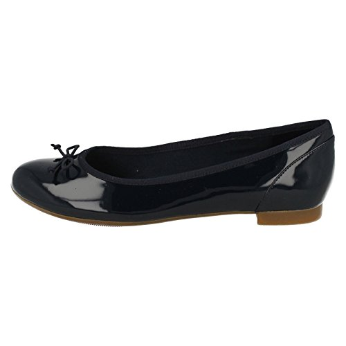 Clarks Couture Bloom, Ballerine Donna, Nero, Various Navy Patent