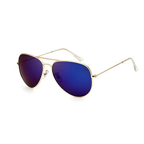 Metallic Polarized Sonnenbrillen Oval Classic Sonnenbrillen Herren \u0026 Damen Polarisatoren Outdoor Travel Sonnenbrillen Gold Frame Sea Blue Polarisatoren (Geschenkverpackung)