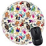 MSD Naturkautschuk Mousepad rund Maus Pad/Matte: 12488089Animal Sport Player Nahtlose Muster -