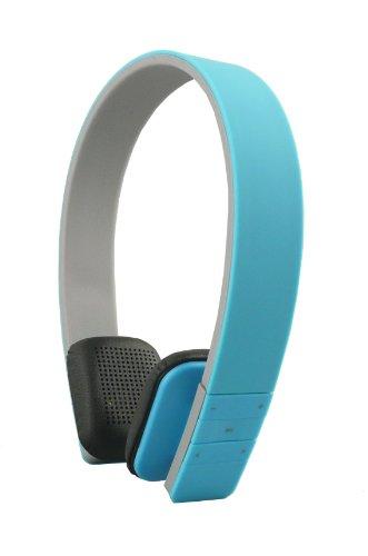 Emartbuy® Polaroid Infinite 9 / Polaroid Platinum 10.1 / Polaroid Infinite+ 10.1 Zoll Tablet SleekWave Bluetooth Kopfhörer Kabellos in Blau mit Eingebautem Mikrofon und Fernbedienung