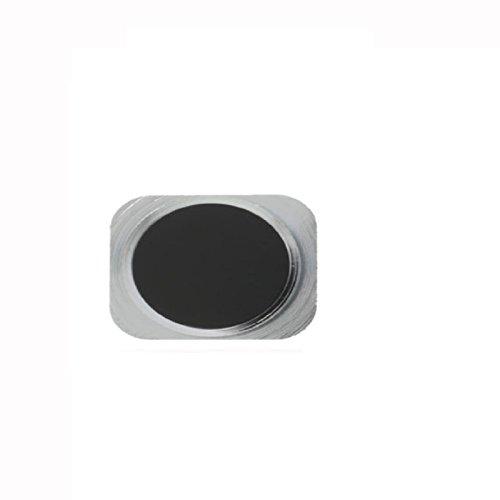 Ersatz Schwarz & Silber Button Sticker für Home Button Aluminium 5S Style für iPhone 5 (Iphone 5 Aluminium Home Button)