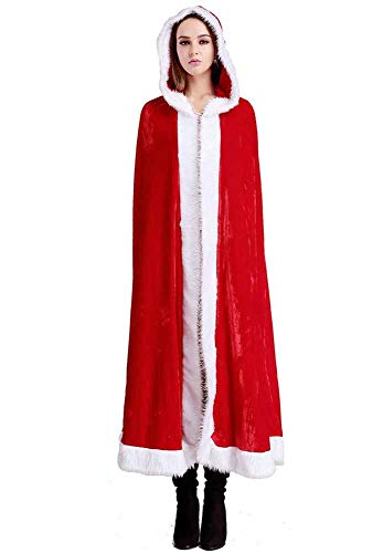 Kostüm Königin Böse Muster - Huateng Weihnachten Weihnachtsmann Kostüm Frauen Frau Weihnachtsmann Kostüm Rotes Kap Mit Kapuze Umhang Cape